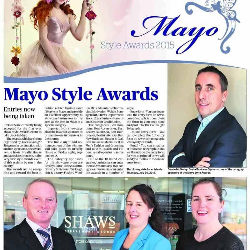 Cornie at the Mayo Style Awards